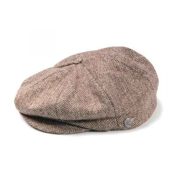 CLUBMAN HAT BROWN HERRINGBONE - Iron & Resin